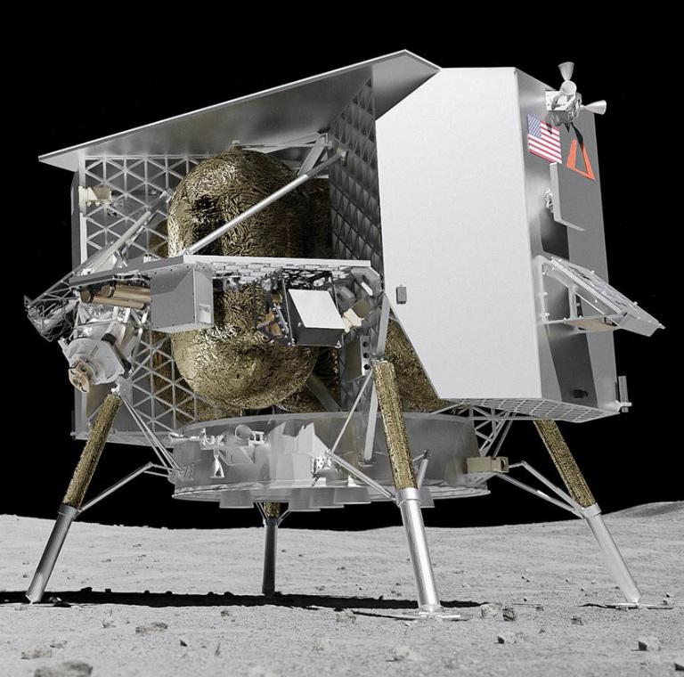 Lander on the moon